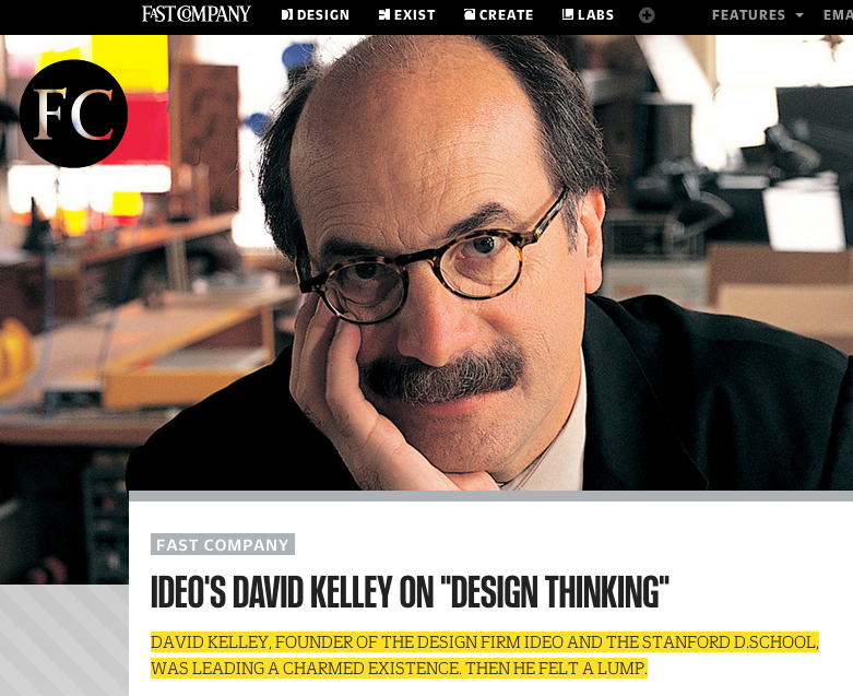 On Design Thinking & David Kelley