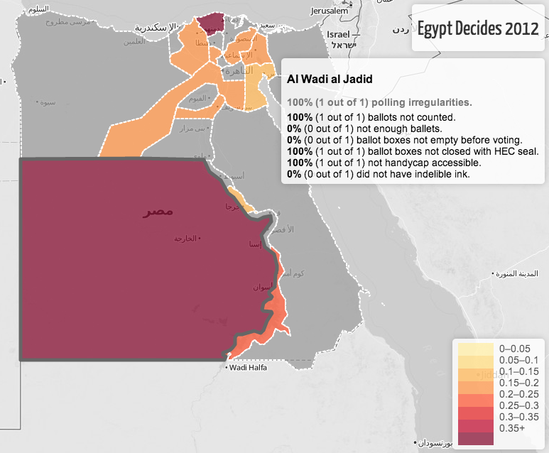 A real-time map of Egypt Election data
