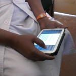 ANM using Dristhi application on tablet