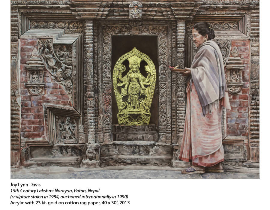 One of Joy's incredible Remembering the Lost Sculptures of Kathmandu series.